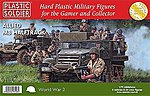 WWII Allied M3 Halftrack (3) & Crew (24) -- Plastic Model Halftrack Kit -- 1/72 Scale -- #7220