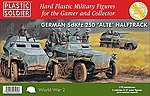 WWII German SdKfz 250 Alte Halftrack -- Plastic Model Military Kit -- 1/72 Scale -- #7231