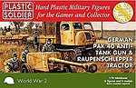 WWII German Pak40 Anti-Tank Gun & Raupenschlepper Tractor -- Plastic Model Kit -- 1/72 -- #7234