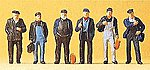 Industrial/Dock Workers (6) -- Model Railroad Figures -- HO Scale -- #10350