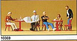 People Working Street Cafe (5) -- Model Railroad Figures -- HO Scale -- #10369