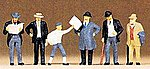 1900s Men Passengers -- Model Railroad Figures -- HO Scale -- #12133