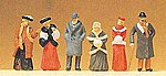 1900s Passers-By Wearing Winter Clothes -- Model Railroad Figures -- HO Scale -- #12197