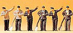 Railroad Personnel - Steam Engine Crew -- Model Railroad Figures -- HO Scale -- #14014