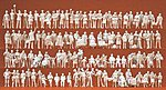Assorted Unpainted Figures - At The Train Station -- Model Railroad Figures -- HO Scale -- #16352