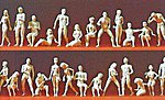 Unpainted Figure Set - Adam & Eve Combination Kit -- Model Railroad Figures -- HO Scale -- #16400