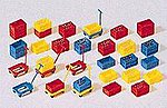 Plastic Boxes Kit -- Model Railroad Building Accessory -- HO Scale -- #17113