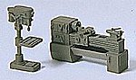 Drill Press and Lathe -- Model Railroad Building Accessory -- HO Scale -- #18355