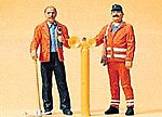 Modern Track Workers -- Model Railroad Figures -- G Scale -- #45005