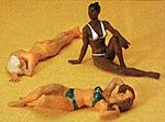 Sunbathing Girls -- Model Railroad Figures -- G Scale -- #45011