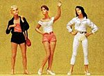 Standing Teenage Girls -- Model Railroad Figures -- G Scale -- #45027