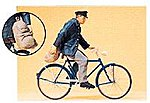 Man on a Bicycle -- Model Railroad Figures -- G Scale -- #45067