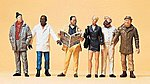 City Passers-By -- Model Railroad Figures -- G Scale -- #45156
