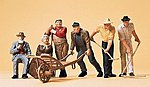 Rural Workers & Accessories -- Model Railroad Figures -- G Scale -- #45157