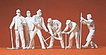 Railroad Track Crew -- Model Railroad Figures -- G Scale -- #45182