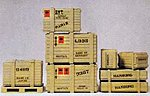 Crates & Pallet Kit -- Model Railroad Building Accessory -- G Scale -- #45200