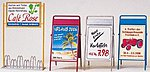 Bicycle Stand/Advertising Boards -- Model Railroad Building Accessory -- G Scale -- #45221