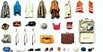 Clothes, Vests, Bags, Etc -- Model Railroad Building Accessory -- G Scale -- #45223