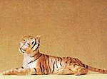 Tiger Lying Down -- Model Railroad Figure -- 1/25 Scale -- #47510