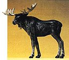 Bull Moose Standing -- Model Railroad Figure -- 1/25 Scale -- #47536
