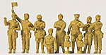 Soviet Union WWII Tank Crewmen -- Model Railroad Figures -- 1/72 Scale -- #72526