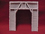 Single Timber Tunnel Portal -- HO Scale Model Railroad Tunnel -- #101