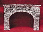 Random Stone Double Track Tunnel Portal -- HO Scale Model Railroad Tunnel -- #104