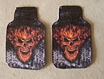 1/25 Flaming Skull Car Mat Set