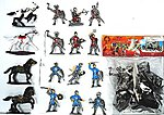 1/32 Crusader Knights & Horse Figure Playset (12 Knights & 4 Horses) (Bagged)