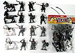 1/32 Vikings Figure Playset (12 w/Weapons, Bow/Arrows & 4 Horses) (Bagged)