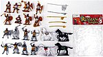 1/32 Russian Knights Figure Playset (16 w/Weapons & 4 Horses) (Bagged)