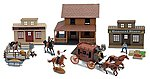 1/32 Big Country Western Town Deluxe Playset (Window-Boxed)