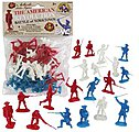 54mm American Revolution Battle of Yorktown Figure Playset (34pcs) (Bagged) (BMC Toys)