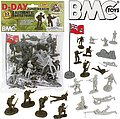 54mm D-Day Juno Beach German & Canadian Figure Playset (Olive/Tan) (33pcs) (Bagged) (BMC Toys)