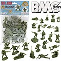 54mm Iwo Jima US Marines Figure Playset (Olive) (36pcs) (Bagged) (BMC Toys)