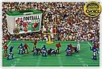 Football Guys Action Playset Red/Blue (27 2'' Figures, Acc & Carry Case) (Kaskey)