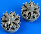 C47 Skytrain Engines for Airfix -- Plastic Model Aircraft Accessory -- 1/72 Scale -- #72490