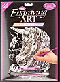 Holographic Foil Engraving Unicorn -- Scratch Art Metal Art Kit -- #holo11