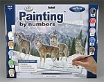 PBN Wolves 15x11-1/4 -- Paint By Number Kit -- #pal19