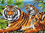 Junior PBN Tiger & Cubs 15x11-1/4 -- Paint By Number Kit -- #pjl5
