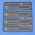 Pico Saw Set- (4) (48t/cm) (use w/hobby knife #1 handle)