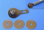 Rivet-R Riveting Tool w/4 Scribing Wheels- 0.75, 1, 1.25, 1.5mm (use w/hobby knife #1 handle)