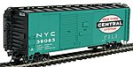 1937 AAR Double-Door Boxcar (Ready to Run) NYC -- HO Scale Model Train Freight Car -- #38526