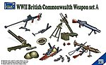 WWII British Commonwealth Weapon Set A -- Plastic Model Weapon Set -- 1/35 Scale -- #30010