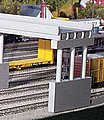 50' Modern Highway Overpass w/Pier -- Model Railroad Bridge -- N Scale -- #162
