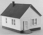 HO 1 Story House -- Model Railroad Building -- HO Scale -- #201