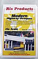 Modern 50' Highway Overpass -- HO Scale Model Railroad Bridge -- HO Scale -- #6280111628-0111