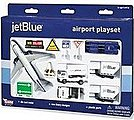 Jet Blue Airways Die Cast Playset (12pc Set) -- Toy Plane Toy Train Toy Car Toy Truck -- #1221