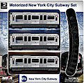 Motorized MTA New York City Subway Train Set (3 Cars & Track)