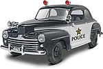 1948 Ford Police Coupe 2n1 -- Plastic Model Car Kit -- 1/25 Scale -- #854318